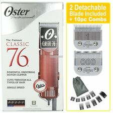 OSTER CLASSIC 76 PROFESSIONAL HAIR CLIPPER 76076-010, 10 Attachments Combs COMBO