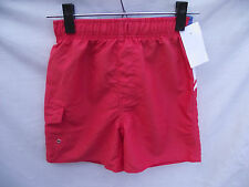 BNWT Boys Sz 7 Dusty Red/Panels Urban Supply Elastic Waist Swim Board Shorts