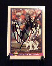 CLAY MATTHEWS AUTOGRAPHED CARD