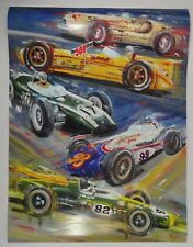 2016 Indianapolis 500 Gregory Beall Poster Novi Lotus Sam Hanks Parnelli Jones