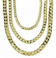 """Mens 14k Gold Plated Miami Cuban Link 7mm 9mm 12mm Necklace 20"""" 24"""" 30"""" Chain"""