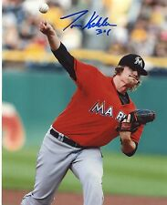 TOM  KOEHLER    MIAMI  MARLINS  ACTION    AUTOGRAPHED    SIGNED  8X10  PHOTO