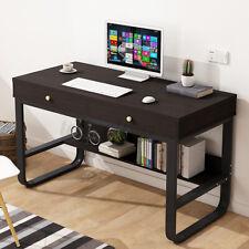 US PC Laptop Table Computer Desk Study Workstation Home Office Storage Furniture