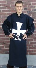 Waffenrock Hospitaler Ritter Wappenrock schwarz mit weißem Kreuz