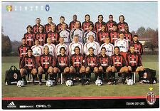 Cartolina Squadra AC Milan Stagione 2001/02