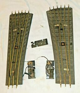 O Gauge Switch Track Pair with Brass Rail for Parts/Repair