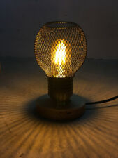 Black Industrial Metal Wire Cage Hanging Lamp Shade Table Lamp Vintage Desk Lamp