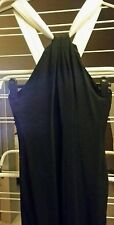 ladies size 14 black halterneck dress by LBD