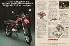 1981 Honda XL500S Dual Purpose Motorcycle - 2-Page Vintage Ad