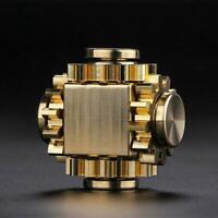 Gear Linkage Brass Gyroscope Fingertips Top Gearwheel Gyro Toy x 1