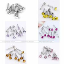 Nose Crystal Stainless Steel Stud Body Piercing Jewelry