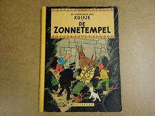STRIP HERDRUK UIT 1966 MET LINNEN RUG / DE AVONTUREN VAN KUIFJE - DE ZONNETEMPEL