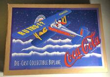 Ertl Coca-Cola Die-Cast Metal BiPlane F601 Vintage Collectible Coke Brand Plane