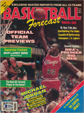 Michael Jordan Signed Autographed NBA Magazine!! RARE & UNIQUE! FULL BECKETT LOA