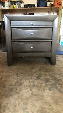 Crown Mark Emily Gray Nightstand