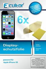 6x Apple iPhone 5S screen protector protection guard crystal clear