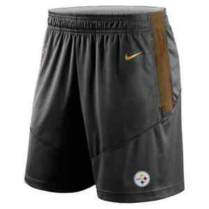 New 2021 NFL Pittsburgh Steelers Nike Sideline Performance Knit Dri-FIT Shorts