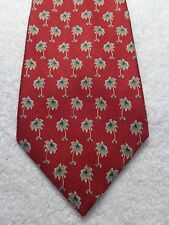 TOMMY BAHAMA MENS TIE OFF ISLAND SERIES RED WITH PALM TREES WIDE FAT 59 X 4.25
