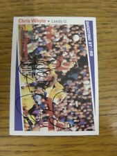 1991/1992 Autographed Trade Card: Leeds United - Whyte, Chris [Shooting Stars].