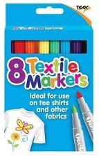 Multicolore tissu Marqueurs T Shirt Stylos Tissu Stylos Feutre Textile Marqueurs X 8