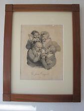 Louis-Leopold Boilly, Les Grimaces 'Les faux Toupets' Litho um 1823
