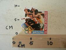 STICKER,DECAL BARCELONA 1992 OLYMPISCHE SPELEN MARS M&M'S SET 5 STICKERS RUNNING