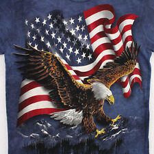 THE MOUNTAIN American Flag Bald Eagle Graphic Art T-SHIRT MEN'S ADULT S SMALL