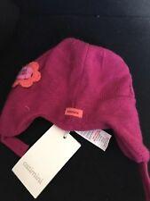 REDUCED!! CATIMINI floral Appliqué Knitted Bonnet Age 6-9m Rrp £22.99