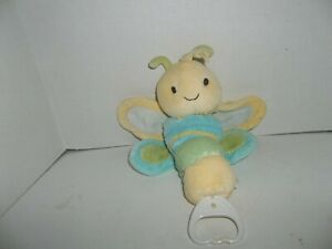 """carter's child of mine yellow green blue musical dragonfly butterfly plush 11"""""""