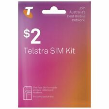 100 x $2 Telsra PREPAID MOBILE SIM