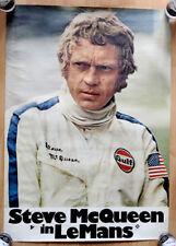 """org. Plakat Poster """"Le Mans"""" 1970 mit der Nr. 20 Gulf Porsche 917 Steve McQueen"""