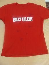 BILLY TALENTO Rosso Insetto Skinny Tour T Shirt Taglia L RARA