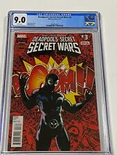 DEADPOOLS SECRET SECRET WARS 3 CGC 9.0 Marvel Comics 9/15 1st Deadpool venom