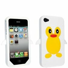 White Penguin Silicone Case / Cover for Iphone 4 / 4S