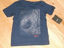 NWT - Nike short sleeved navy blue & white soccer shirt - 4 boys