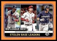 2020 Big League Base Orange #248 Christian Yelich Trea Turner Ronald Acuna Jr.