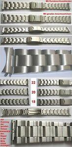 EDELSTAHLARMBAND Faltschließe Breitenwahl 18, 20, 22 mm Rundanschluß & Gerader