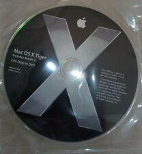 Mac osx Tiger 10.4 CPU Drop in DVD          includes Xcode 2                D19