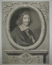 17ème Portrait de MICHEL LE TELLIER Gravé par NANTEUIL en 1659 Coll. DESTAILLEUR