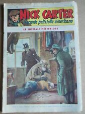 Nick Carter Il Grande poliziotto americano Anni 40 n°37 ed. NERBINI  [G369]