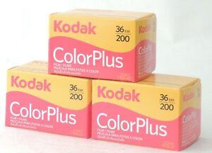 FRESH KODAK COLOURPLUS NEGATIVE PRINT 200asa 35mm 36 Exp FILM X 3 ROLLS