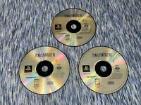 Final Fantasy VII (PlayStation 1, PS1, 1997) Game Discs Only!!