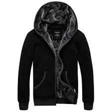Men's Boys Warm Winter Causal Thicken Hoodie Fur Lining Coats Jacket Parka M-6XL