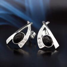 Onyx Silber 925 Ohrringe Damen Schmuck Sterlingsilber S310