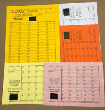 Mixed Pack  - Lucky Number Raffle Cards  - 10 Fundraising Cards - various types