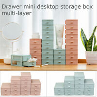 Multi Drawer Desktop Storage LayerMakeup Organizer Box Case Jewelry Plastic