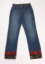 MBNY jeans W28 tg 28 mom hot vita alta usati strass donna vintage denim T2178