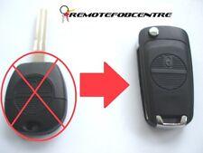 2 Botones Flip Llave Carcasa de actualización para Nissan Almera Primera X-Trail 4.5 cm remoto
