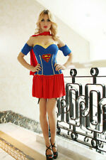 Superwoman Dress w/Cape Super Woman Outfit Costume for Cosplay hallo Party S/M