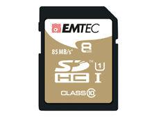 Sdhc 8go EMTEC Cl10 Gold Uhs-i 85mb/s - sous blister